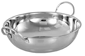 Set of 6 Stainless Steel Balti Dishes 15 cm .. Indian Serving Dish.. Curry Night