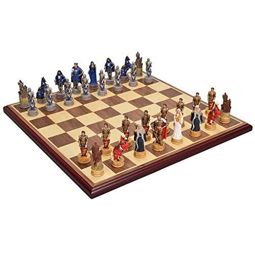 Zyj-Chess Ajedrez de Viaje Caballero Medieval Times estaño...