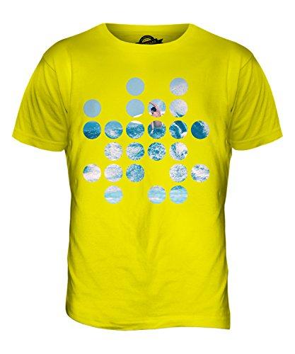 CandyMix Surfen Kreisförmigen Muster Herren T Shirt Zitronengelb