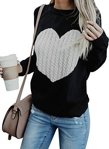 FGFD Mujer Sudaderas Básico Punto Suéter Moda O-Cuello