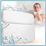 Komfort Badewannenkissen mit Saugnäpfen - Verbessertes Design 2019 - Badekissen für Badewanne-n - Badewannenkopfkissen Weiß - Wannenkissen inkl. Geschenkverpackung - Wellness & SPA Bath-Pillow