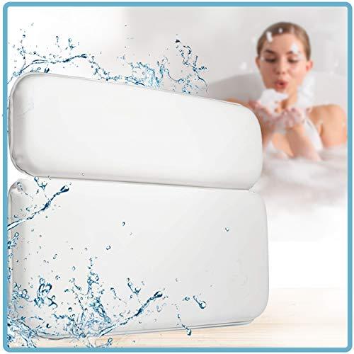 Luana Rose Badewannenkissen mit Saugnäpfen - [TESTSIEGER] - Badekissen für Badewanne & Whirlpool - Nackenkissen Badewanne - Wellness Geschenkset - Wannenkissen Rücken - Kissen Badewanne - Bath Pillow