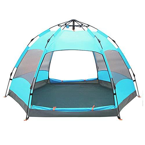 TonXiory Camping Zelt,Rucksackreisen zelte sechseck Wasserdichte automatische popup-Outdoor-Sportarten kuppelzelt Camping Sonne unterstände-grün 270x270x150cm(106x106x59inch)