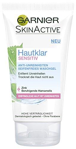 Garnier Hautklar Sensitiv Seifenfreies Waschgel, 3er Pack (3 x 150 ml)