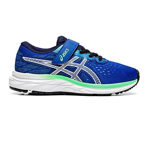Asics Unisex-Kinder Pre Excite 7 Ps Leichtathletik-Schuh, Blau/Weiss, 35 EU