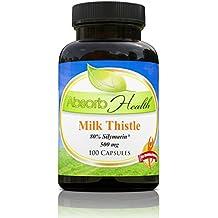 Extrait de chardon-Marie (80% silymarine ) | 500mg 100 Capsules | Puissant Supplément foie Detox