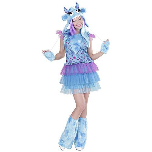 Monster Girl Kostüm - Widmann 01701 - Erwachsenenkostüm Monster Girl - Kleid, Mütze, Handschuhe und Stulpen, Größe S, mehrfarbig