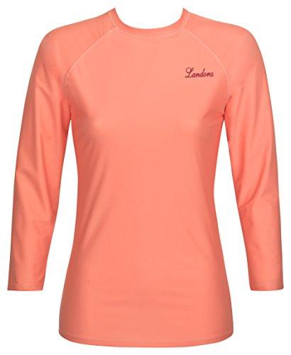 Damen UV-Schutz T-Shirt UV Protect 80, Oeko-Tex 100 in koralle, Größe L