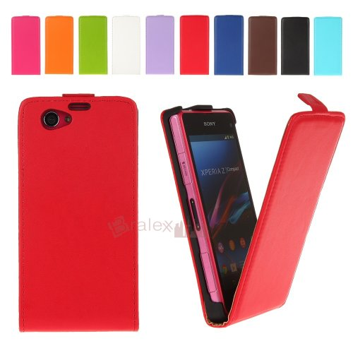 BRALEXX Fliptasche für Sony Xperia Z1 Compact/Mini rot