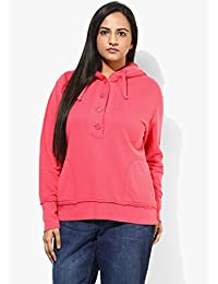 GRAIN Red Regular fit Cotton Long Sleeve Solid Jackets for Women