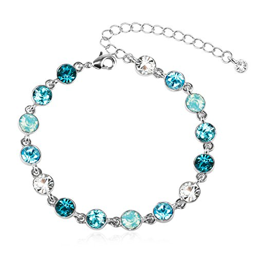 CRYSTAL & CO. Armband – MULTICOLOR, silber/aquamarine – Made with Crystals from Swarovski