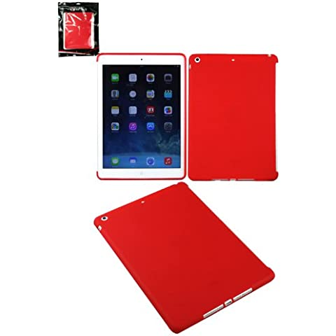 Emartbuy® Apple Ipad Air Smart Gel / Copertura / Case Rosso