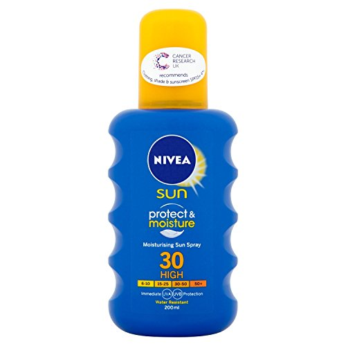 Nivea Moisturising Sun Spray, High SPF 30, Protect & Moisture, 200 ml