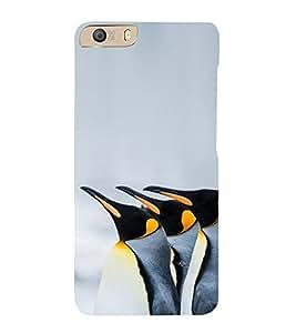 PrintVisa Emperor Penquin 3D Hard Polycarbonate Designer Back Case Cover for Micromax Canvas Knight 2 E471