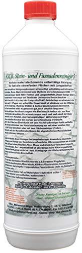 A.K.B. Steinreiniger S bis 600m² saubere Wege und Plätze/1L Steins 3761,säurehaltig Flechtenentferner Grünbelagentferner