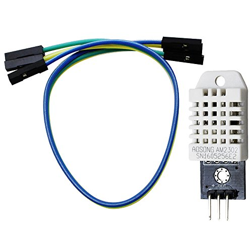 com-four® DHT22 / Sensor AM2302 Digital Humidity and Temperature Sensor with PCB and Cable (01 Pieces - Sensor DHT22)