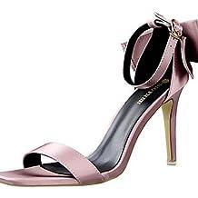 GGX/ Zapatos de mujer-Tacón Robusto-Tacones-Tacones-Fiesta y Noche / Vestido-Semicuero-Rosa / Morado / Blanco , white-us8 / eu39 / uk6 / cn39 , white-us8 / eu39 / uk6 / cn39