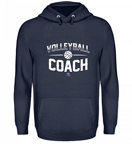EBENBLATT Volleyball Coach Team Trainer Player Sport Volleyballmannschaft Mannschaft Fan Geschenk - Unisex Kapuzenpullover Hoodie