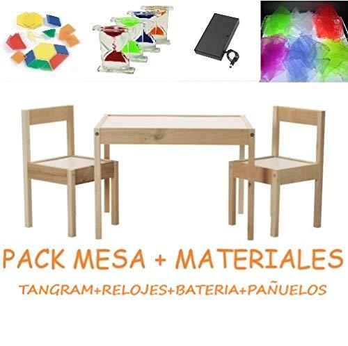 Pack mesa de luz Montessori RGBW 64x48cm + materiales