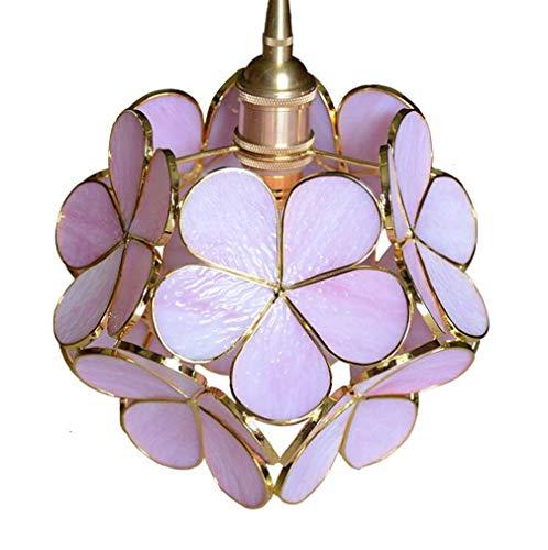 Tiffany-Stil Kirschblüten Pendelleuchte, moderne minimalistische handgemachte Glasmalerei Kronleuchter, Restaurant Schlafzimmer Korridor Gang kreative hängende Deckenleuchte, E27, Max60w,D