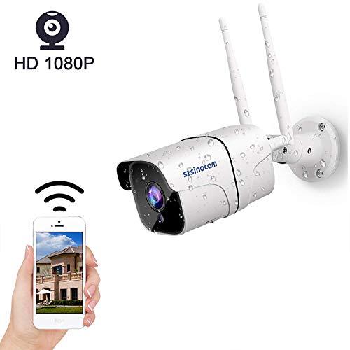 Cámara 1080P Vigilancia IP Cámara WiFi,SZSINOCAM Cámara IP Smart Home  Cámara con Visión Nocturna,Detección de Movimiento,Alarma de APP,Audio