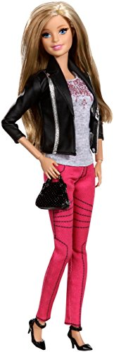 Barbie Mattel CFM76 - Deluxe-Moden Fashionistas Pinker Jeans