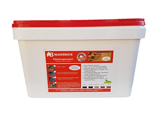 Mainbrick Pflasterfugenmörtel Fix-Fertig Fugenmörtel Terracotta 15 kg - Kein Unkraut, Wasserdurchlässig,