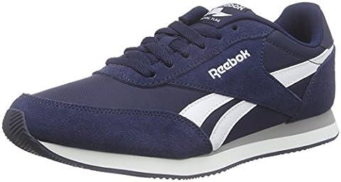 Reebok Royal Classic Jogger 2, Jungen Laufschuhe, Blau (Collegiate Navy/White/Baseball Grey), 34.5 EU (3 Kinder UK)