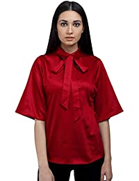 Ombre Lane Womens Plain Regular Fit Synthetic Shirt