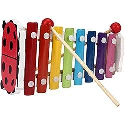 Tongshi Bebé niño de 8 notas musicales xilófono Juguetes de madera sabiduría Desarrollo