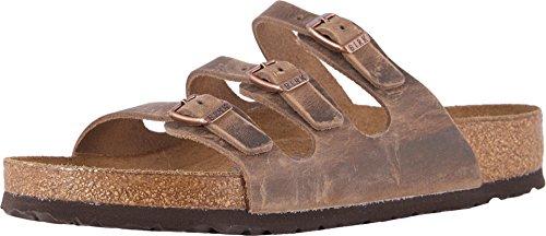 Buckle Mule Sandals (Birkenstock Women's Florida Soft Footbed Tobacco Oiled Leather Sandal 38 (US Women's 7-7.5))
