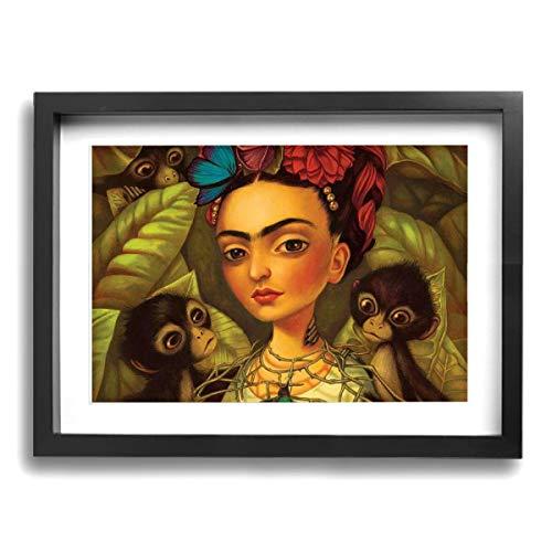 Pintura C Frida Kahlo Mexicana Folk Arte Pared Pintura