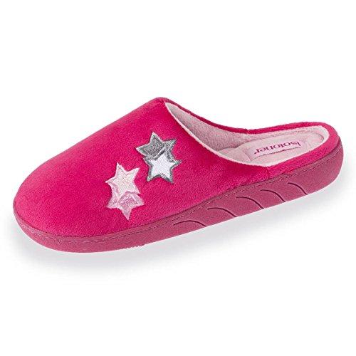Chaussons mules fille étoiles