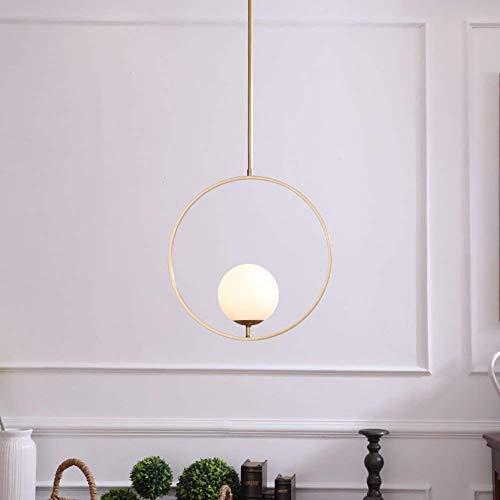 Nordic kreative Designer minimalistischen Kupfer Kronleuchtern, Schlafzimmer Wohnzimmer Restaurant Bar Cafe Kronleuchter Anhänger Beleuchtung Lampen Laternen (Farbe: B (40 * 97 cm))