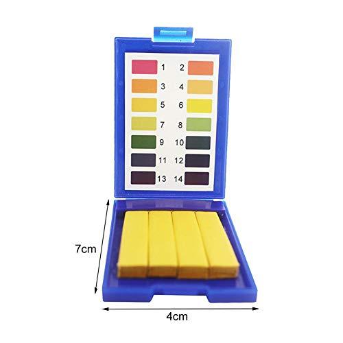 PH 1-14 Test Indicateur de Sol en Eau de Papier de Tournesol Test - Papier de Test PH Standard Blue Box Blue 4 Packs