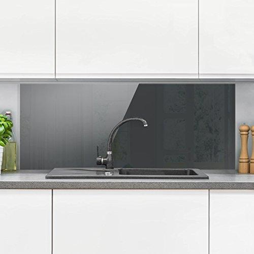 Bilderwelten paraschizzi in vetro heather gray panoramico paraschizzi cucina pannello - Pannello paraschizzi cucina ...