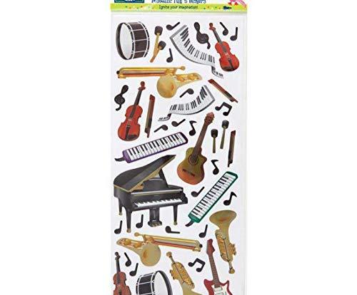 Metallic-Sticker 10x23cm - Musikinstrumente, Docrafts, Einfach, Scrapbooking Papier -