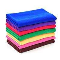 ACDGS 9pcs 9 Color Microfiber Soft Absorbent Wash Towels Car Auto Care Screen Window Cleaning Cloth (Size : One Size)