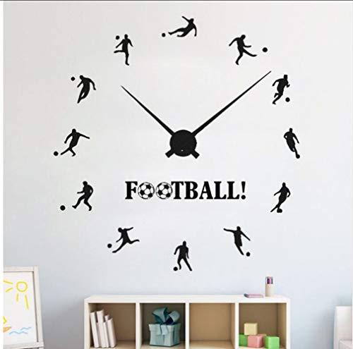 Myvovo Fußball Wanduhr Aufkleber Vinyl Fußball Sport Wandaufkleber Teenager Jungen Raumdekoration Fußballer Wand Poster 57 * 59 Cm