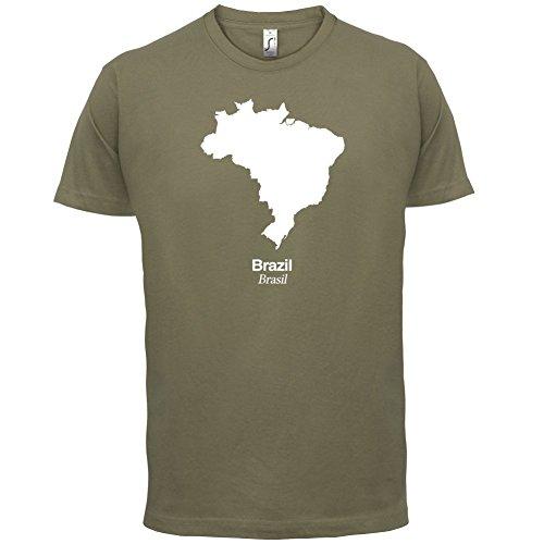 Brazil / Brasilien Silhouette - Herren T-Shirt - 13 Farben Khaki