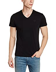 Wrangler Mens T-Shirt (8907649211403_W2471923344C_XXL_Black)