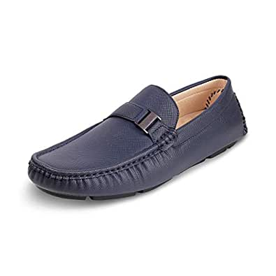 tresmode Men Casual Leather Loafers