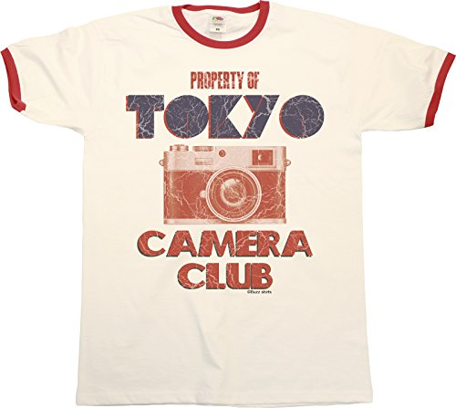 Property Of Tokyo Camera Club Mens RINGER T-Shirt Retro Style