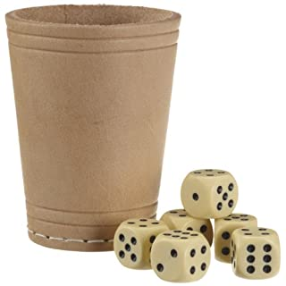 SA 22574010ASS Altenburger - leather dice cup with 6dice