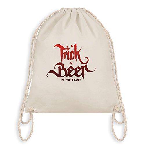 (Halloween - Trick or Beer Halloween Typo - Unisize - Naturweiß - WM110 - Turnbeutel & Gym Bag)