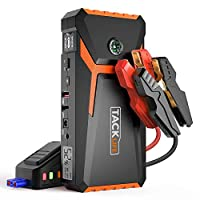 TACKLIFE T8 800A Peak 18000mAh Car Jump Starter with LCD Display (up to 6.5L Gas, 5.5L Diesel engine), 12V Auto Battery Booster with Smart Jumper Cable, Quick Charger