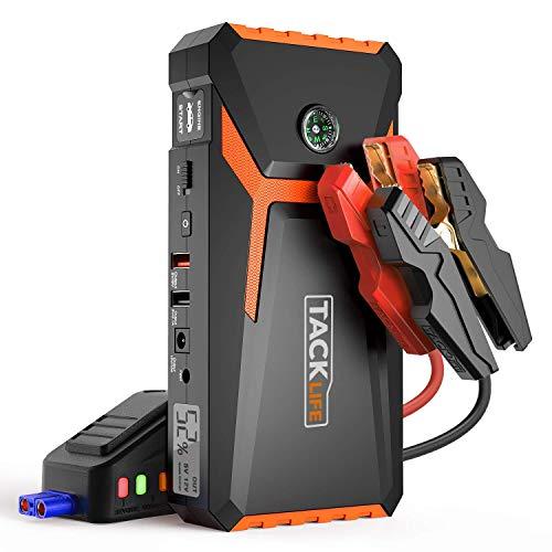TACKLIFE T8 Booster Batterie - 800A 18000mAh Portable Jump Starter, Démarrage de Voiture (Jusqu'à 6.5L Essence 5.5L Gazole), Alimentation Eléctrique d'urgence...