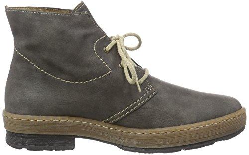 Rieker Z6740 Damen Kurzschaft Stiefel Grau (basalt/mogano / 46)