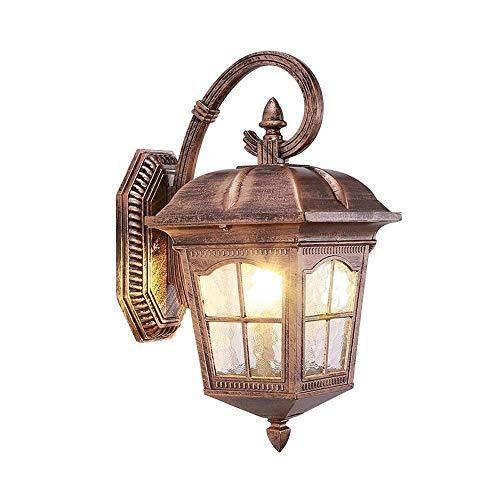 MQW Traditionelle Außenwandbeleuchtung for Landhaus-Garten-wasserdichte Wandleuchte (Farbe: Bronze) 38 * 23.5cm Modischer -
