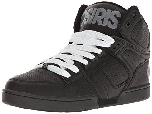 Osiris NYC 83 Hommes Cuir Chaussure de Basket Black-Gray-White